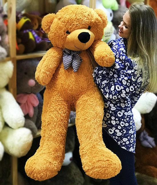 Медведь бежевый 1.2 метра
